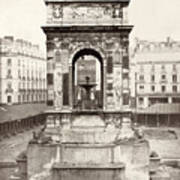 Paris Fountain, C1858 Art Print