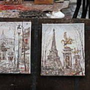 Paris France - Street Scenes - 121225 Art Print