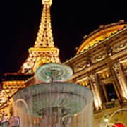 Paris Hotel And Casino In Las Vegas Art Print