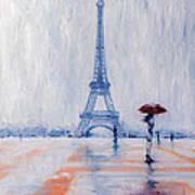 Paris In Rain Art Print