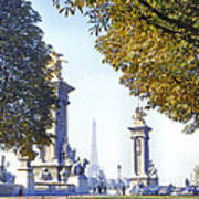 Paris In The Fall 1954 Print by Chuck Staley