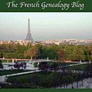 Paris In The Fall With Fgb Border Print by A Morddel