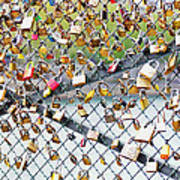 Paris - Locks Of Love Art Print