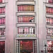 Paris Louis Vuitton Boutique Fashion Shop On The Champs Elysees Art Print