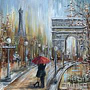 Paris Lovers II Art Print