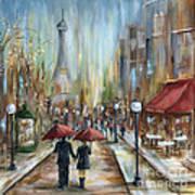 Paris Lovers Ill Art Print