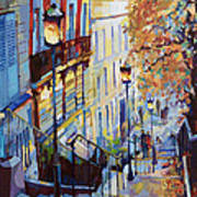 Paris Monmartr Steps Art Print