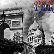 Paris Montage 2 Art Print