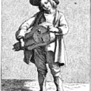 Paris Musician, C1740 Art Print