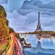 Paris Nights Art Print