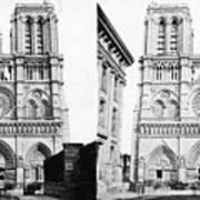 Paris Notre Dame, C1860 Art Print