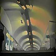 Paris Subway Tunnel Art Print