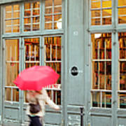 Paris Umbrella Art Print