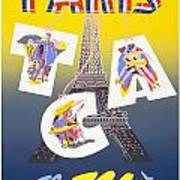 Paris Vintage Travel Poster Art Print