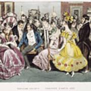 Parisian Salon, 1825 Art Print