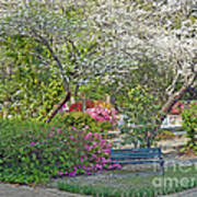 Park Bench Painting Art Print