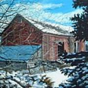 Parker Road Barn Art Print