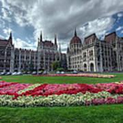 Parliament Garden Budapest Art Print