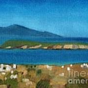 Paros Plain Air Art Print by Kostas Koutsoukanidis