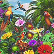 Parrot Jungle Art Print