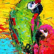 Parrot Lovers Art Print