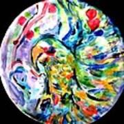 Parrot Plate  Art Print by Martha Nelson