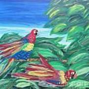 Parrots In Paradise Art Print