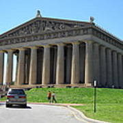 Parthenon In Nashville Art Print by Paula Talbert