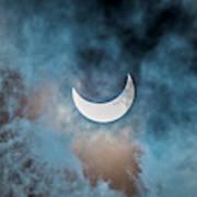 Partial Solar Eclipse In Cloud 1 Oct Art Print