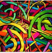 Particle Track Twenty Four Art Print