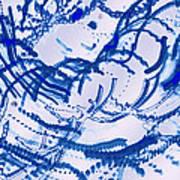 Particles Of Blue Art Print