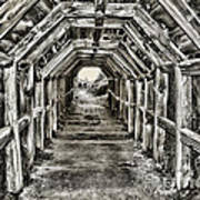 Partington Cove Tunnel By Diana Sainz Art Print