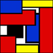 Partridge Family Abstract 1 C Square Art Print