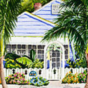 Pass-a-grille Cottage Watercolor Art Print