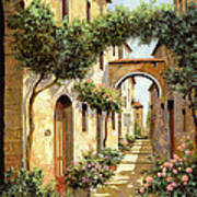 Passando Sotto L'arco Art Print by Guido Borelli