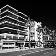 Passeig De Jaume 1 Seafront Road And Properties Salou Catalonia Spain Art Print