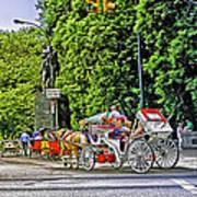 Passenger Cars Only - Central Park Art Print