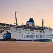 Passenger Port Piraeus. Art Print