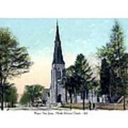 Passiac New Jersey - Norht Reformed Church - 1910 Art Print