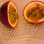 Passion Fruit On Fish Plate 11-3-13 Art Print