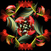 Passionate Love Bouquet Abstract Art Print