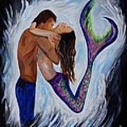 Passionate Mermaid Art Print