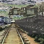 Past Century Trains Art Print