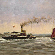 Past On The Medway Art Print
