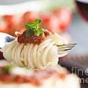 Pasta With Ingredients Art Print