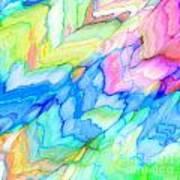 Pastel Abstract Patterns V Art Print