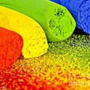 Pastel Chalks Art Print