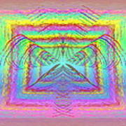 Pastel Rainbow Reverberations Art Print