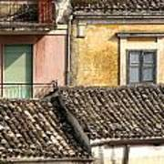 Pastel Roofscape Art Print