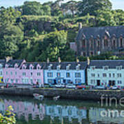 Pastel Rowhome In The Bay Highlands Scotland Art Print